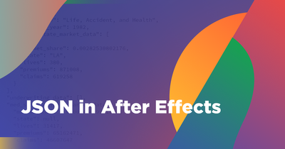 Exporting JSON Code in After Effects