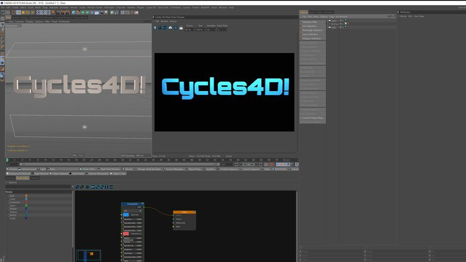 An Overview of Cycles4D in Cinema4D