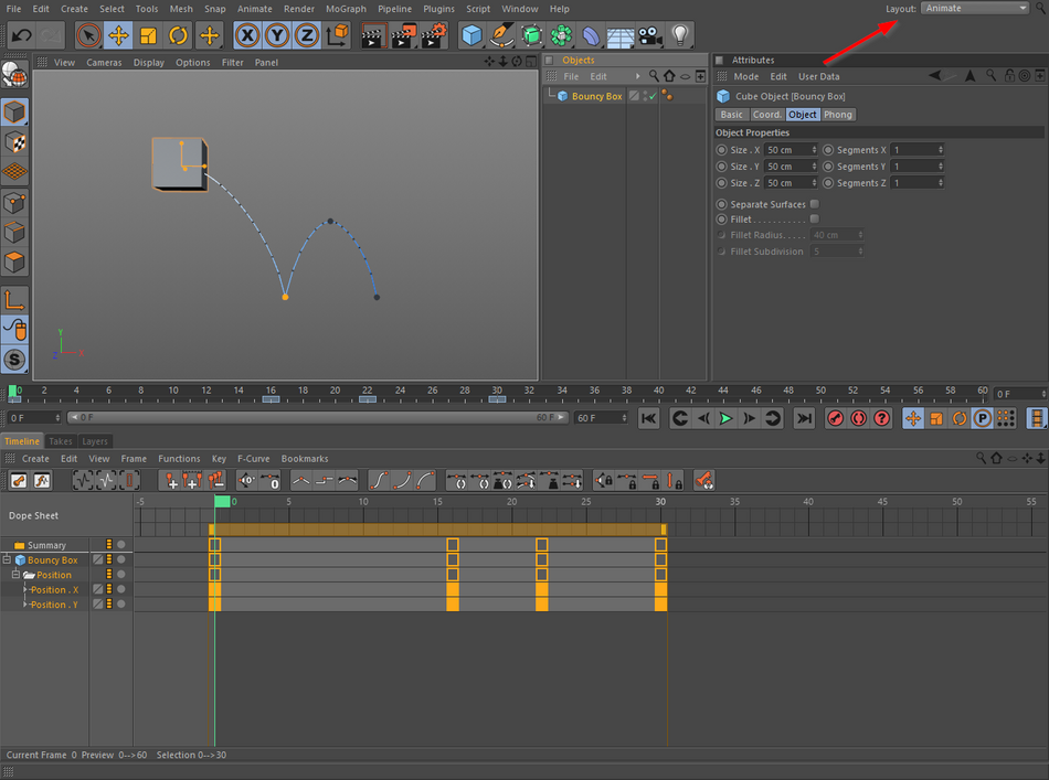 Using the Graph Editor in Cinema 4D