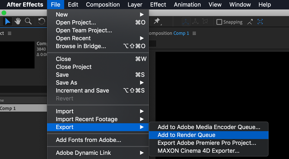 How to add a composition to the render queue using the file menu.png