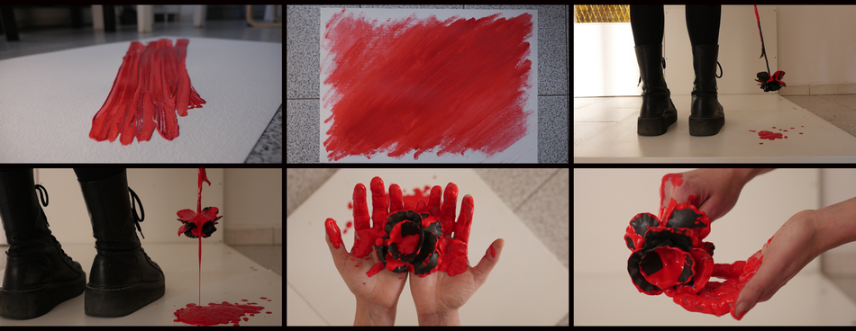Behind the scenes look at Van Velvet project Dahlia - Blood and paint smears.png