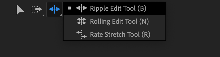 Where to find the Ripple Edit tool in the Tool Window - Premiere Pro.png