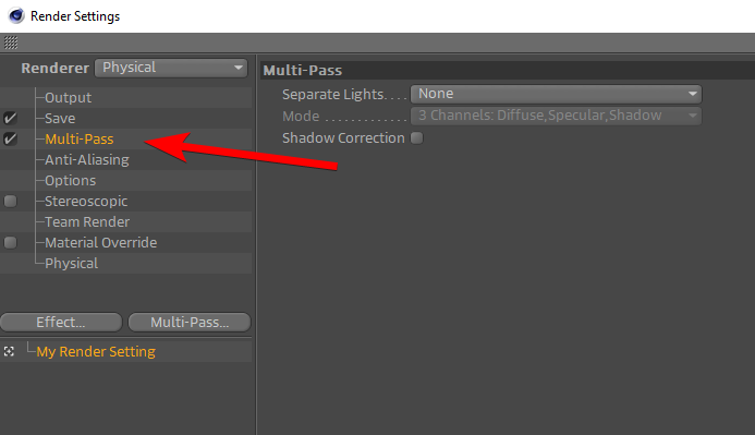 How to Export Multiple Passes in Cinema 4D_multpass enable.png