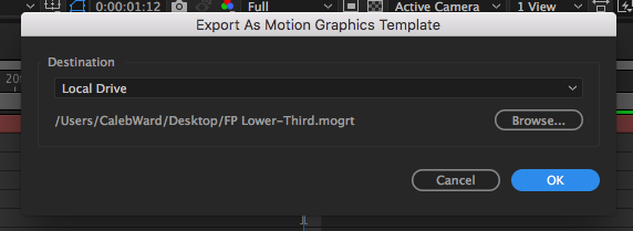 How to Use the Essential Graphics Panel